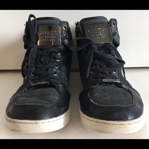 Guess Other - GUESS Men's Metal Buckle High Top Sneakers